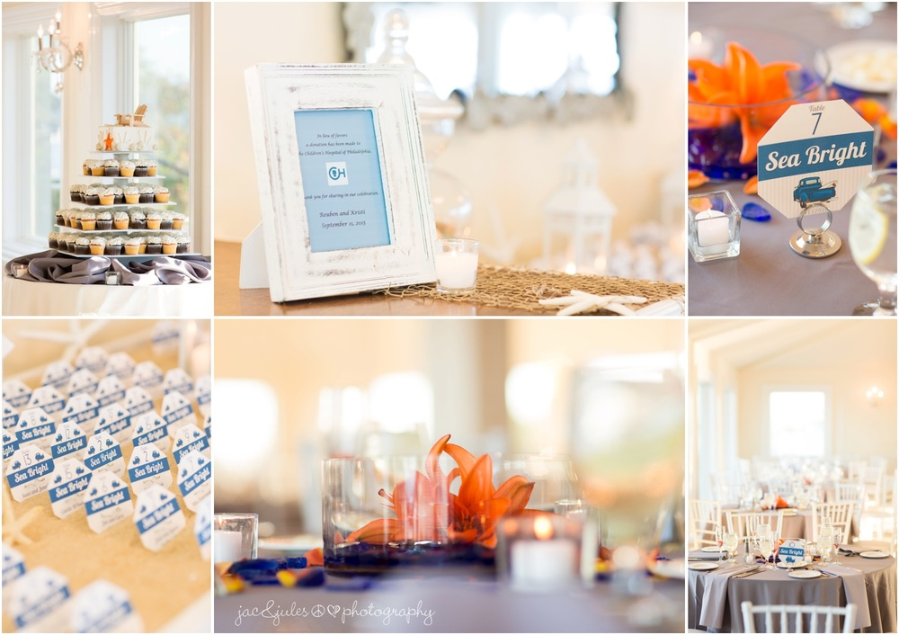 reception details at windows on the water in sea bright, nj.