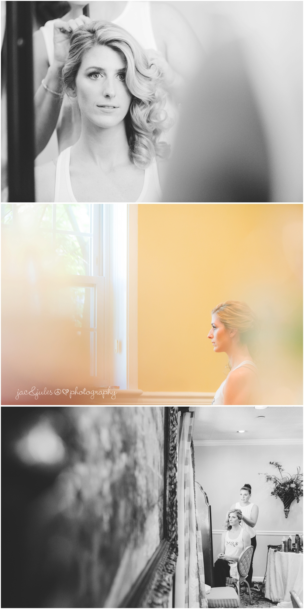 jacnjules photographs bride getting ready at nassau inn in princeton nj