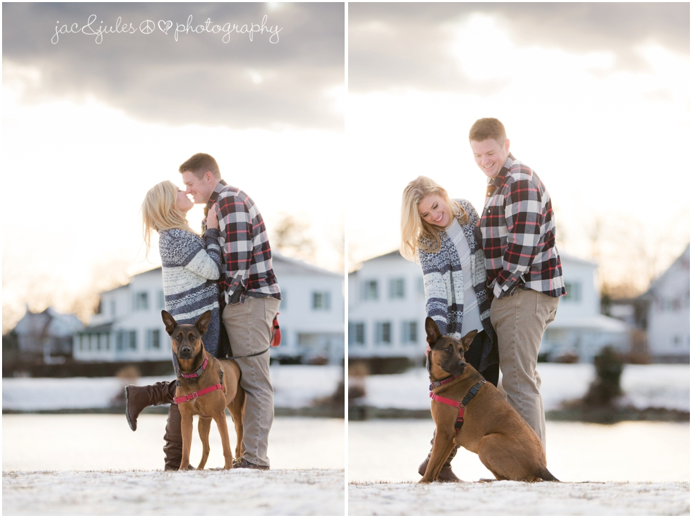 spring-lake-nj-divine-park-winter-engagement-dog-jacnjules-photo