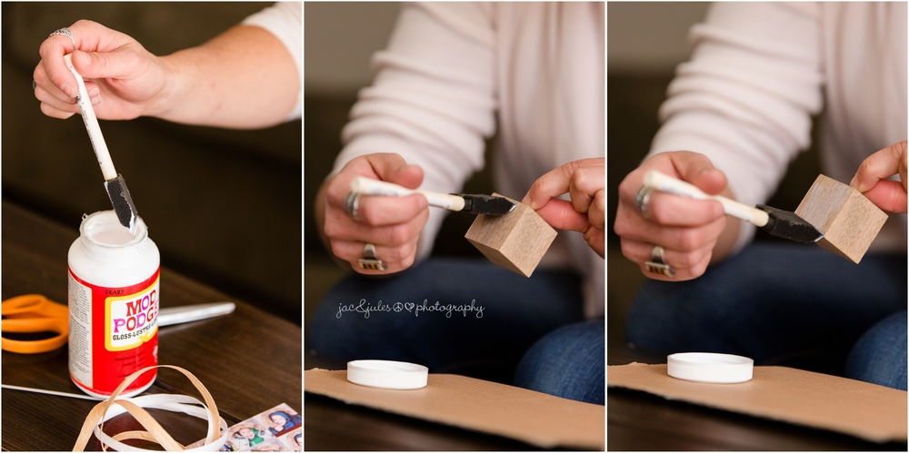 easy wooden photo ornament diy project with mod lodge