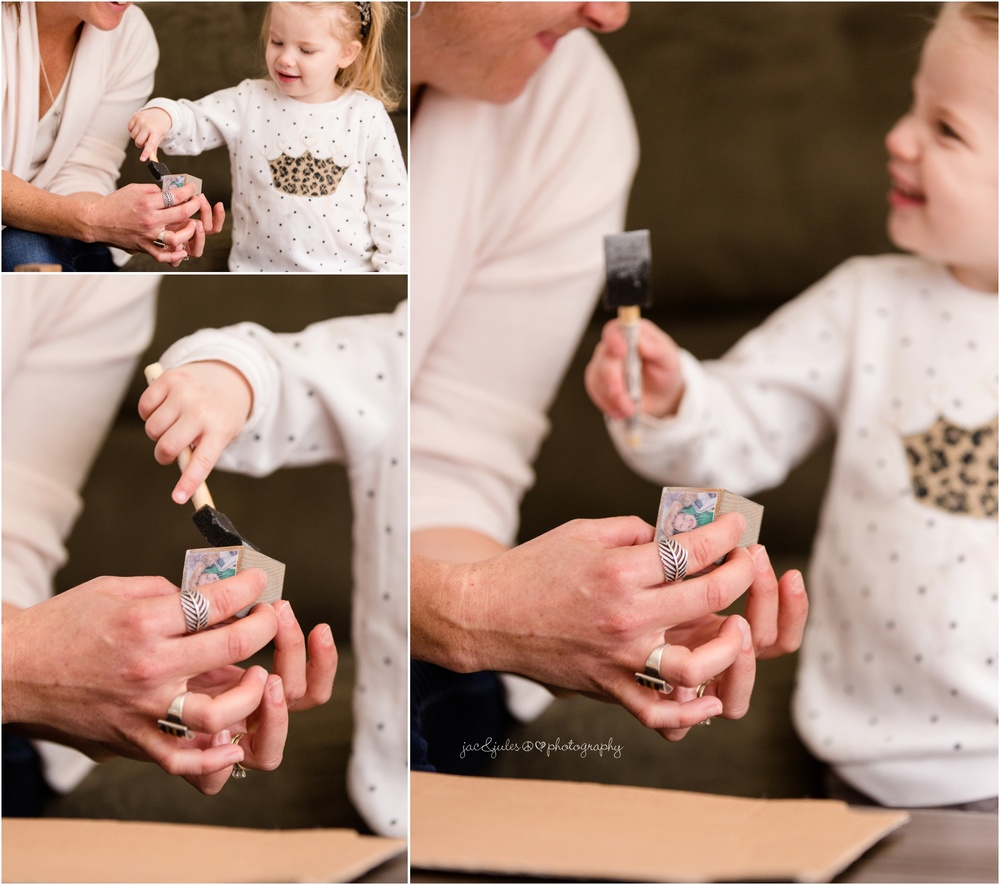 easy diy for kids wooden photo ornament
