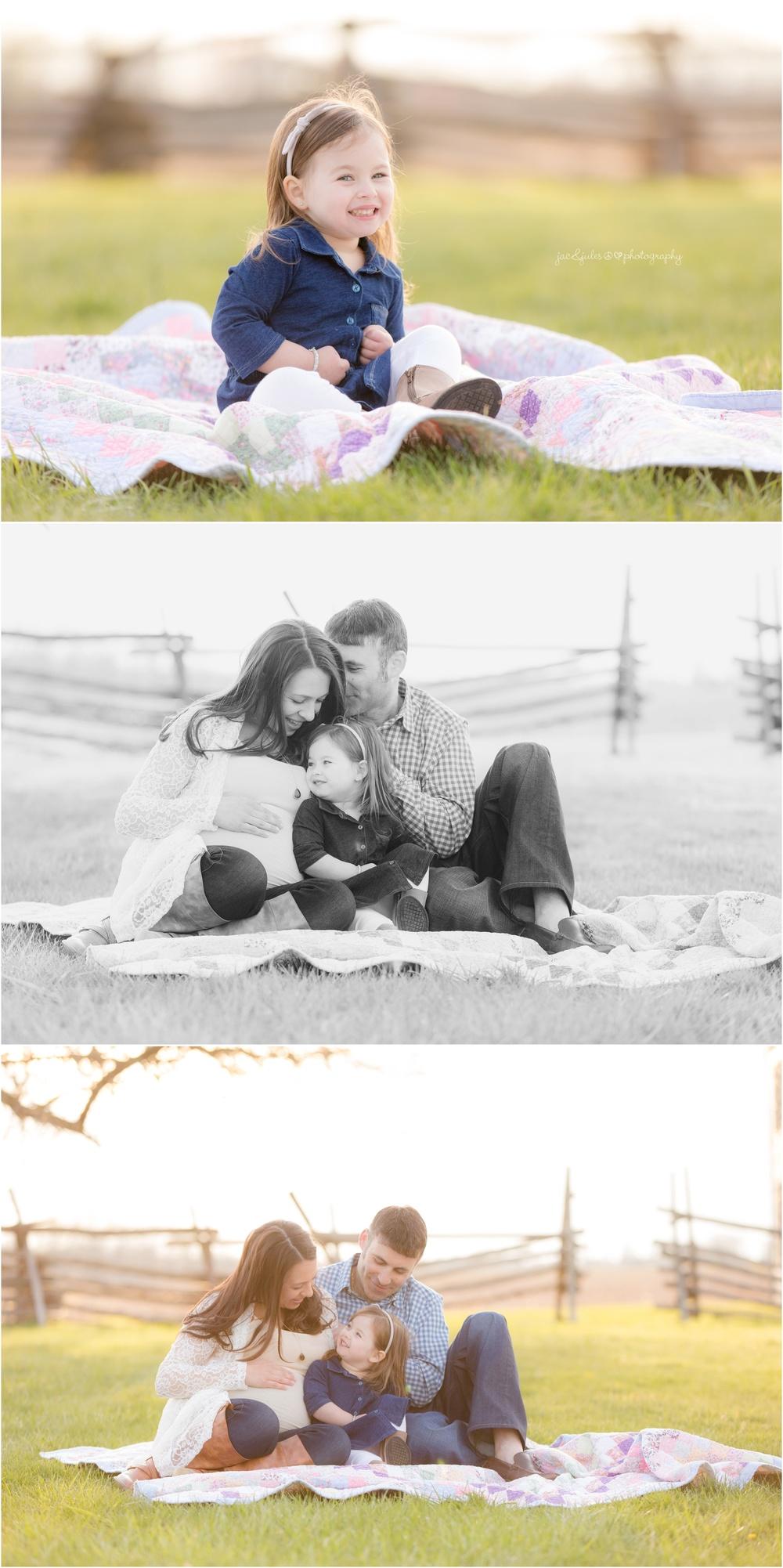 cozy family maternity photos