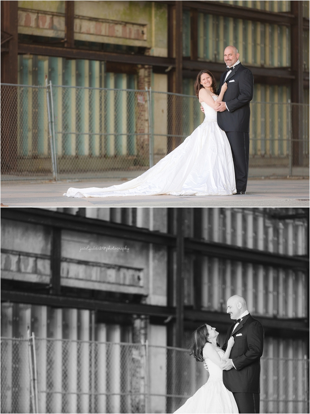 jacnjules photographs bride and groom in Asbury Park NJ