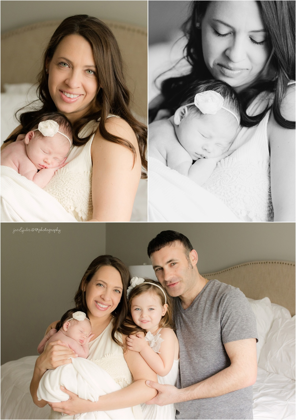 manalapan nj family with newborn baby girl