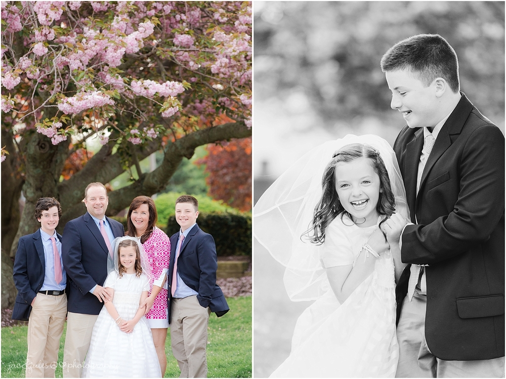 jacnjules photographs a fun family at St. Catherine's Church in Spring Lake NJ