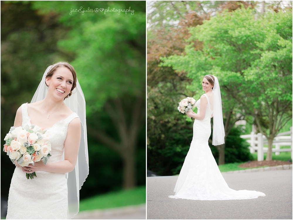 jacnjules photographs a bride on her wedding day at the olde mill inn in basking ridge nj