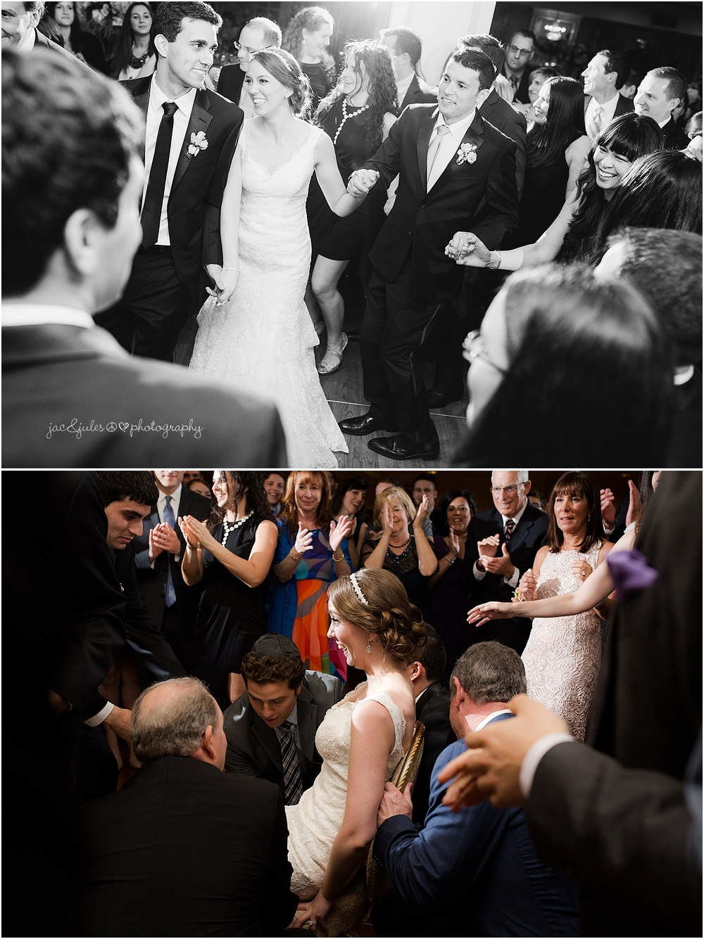 jacnjules photograph a jewish wedding at the olde mill inn reception ballroom