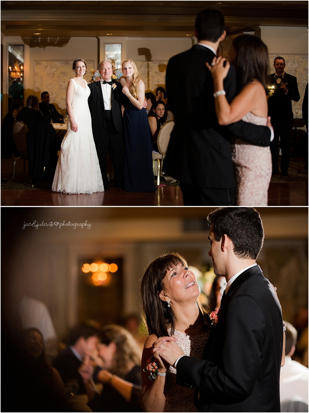 jacnjules photograph parent dances at their wedding reception at olde mill inn in basking ridge nj