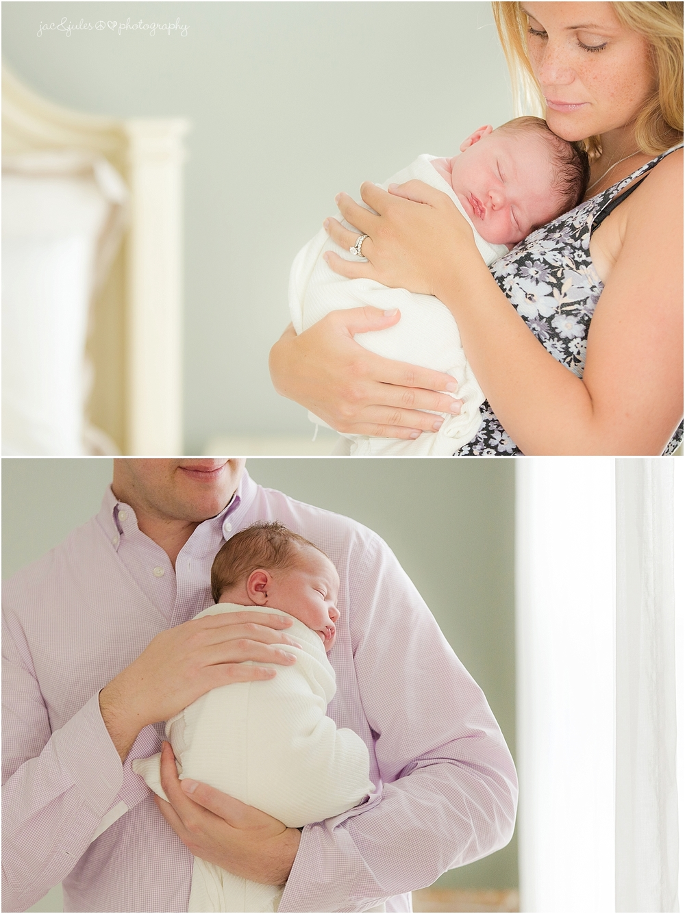 jacnjules photographs newborn baby boy and his parents in their home in toms river nj