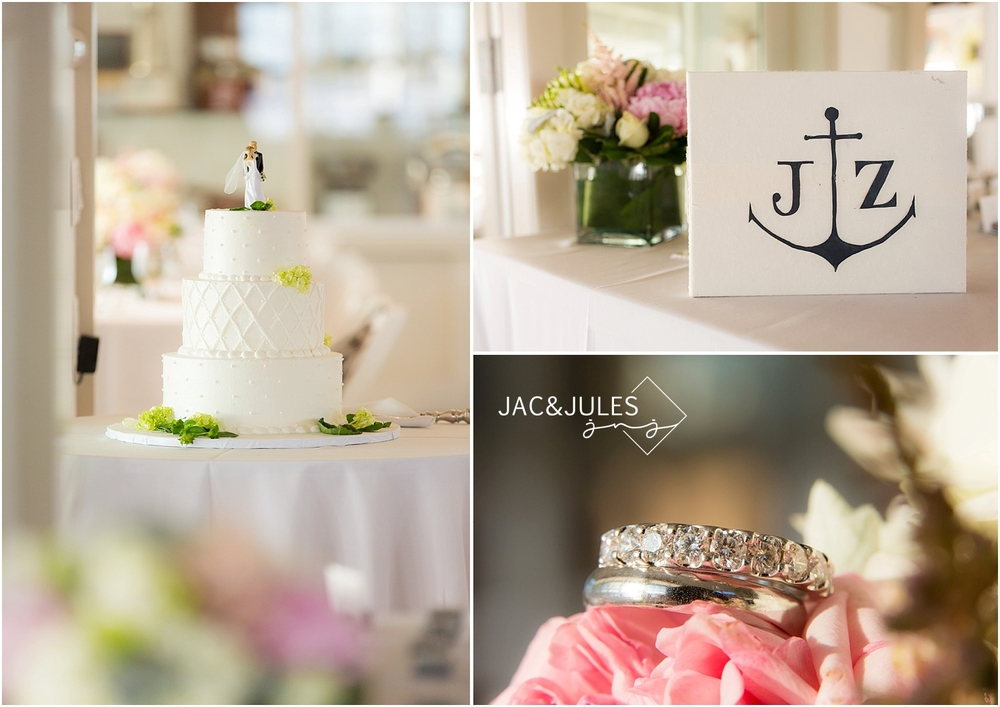 jacnjules photograph wedding reception details at mantoloking yacht club in nj
