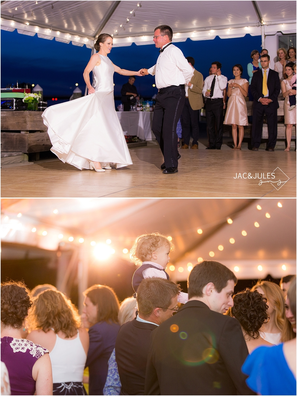jacnjules photograph wedding reception at mantoloking yacht club in nj