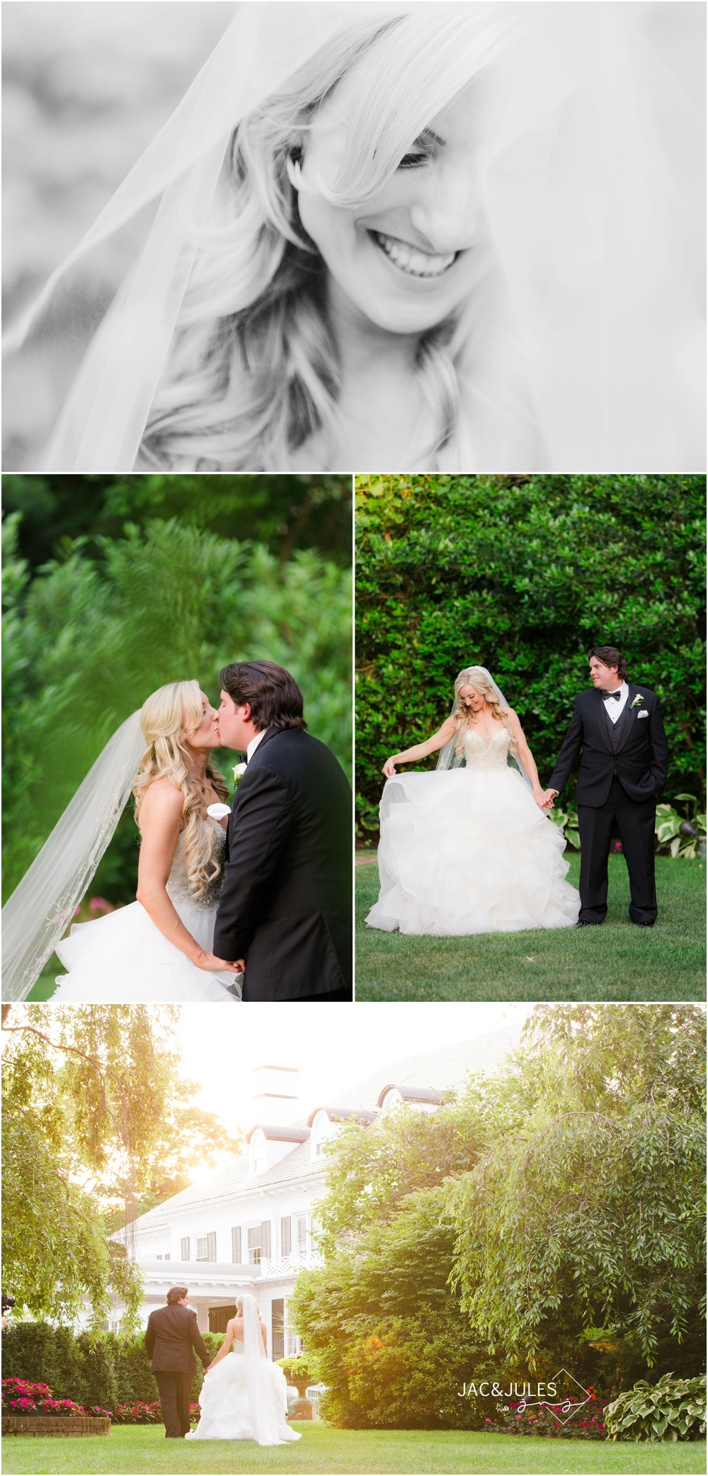 Bride and groom photos at The Shadowbrook in Shrewsbury, NJ.