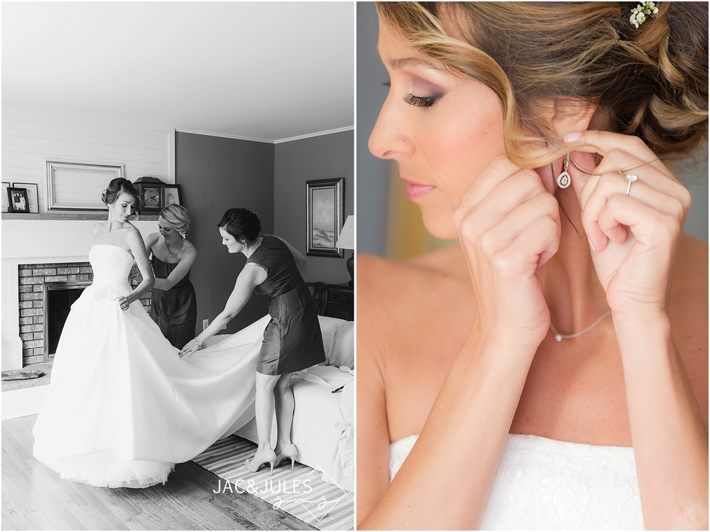 jacnjules photographs bride getting ready for her wedding in lebanon nj