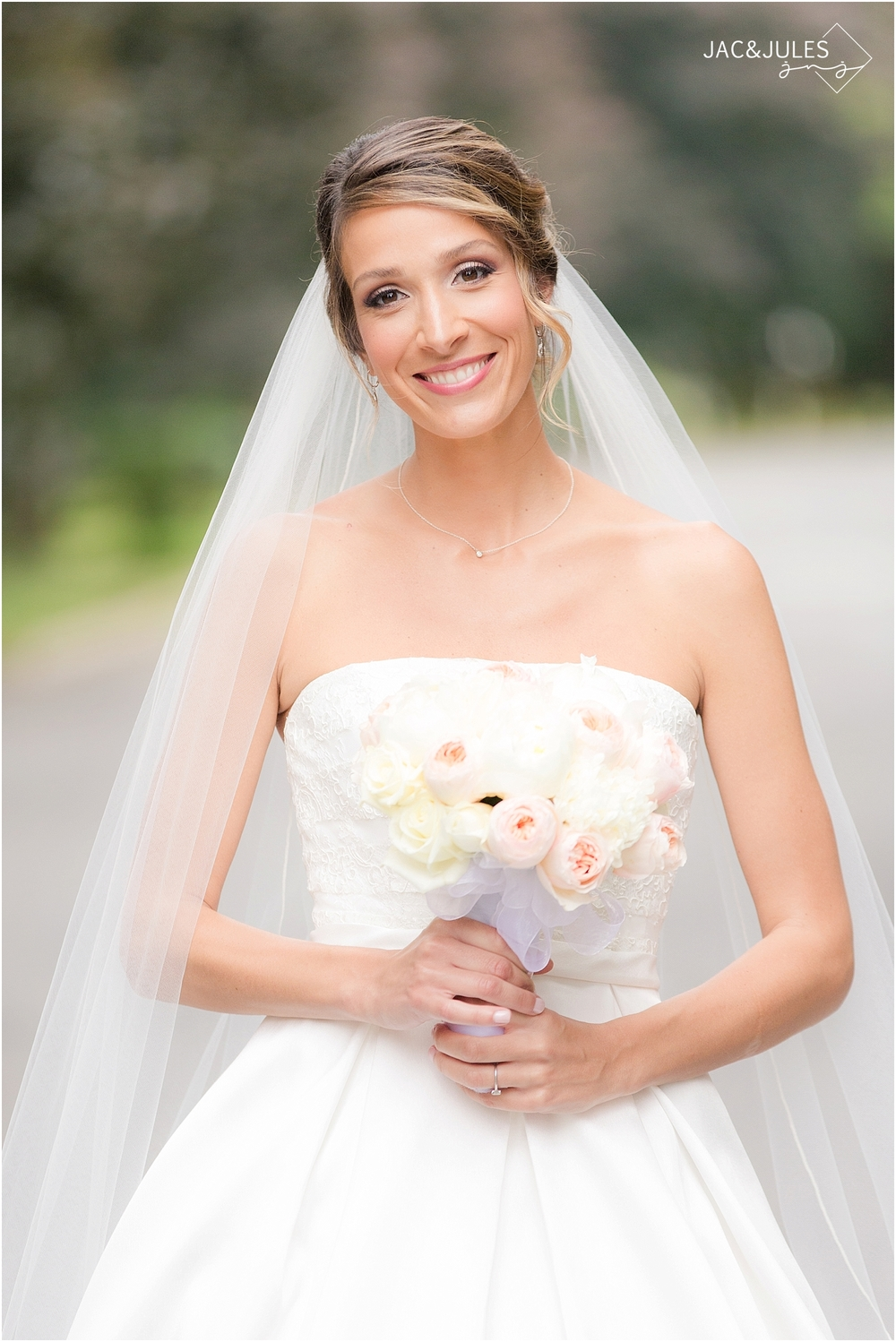jacnjules photographs beautiful bride at olde mill inn in basking ridge nj