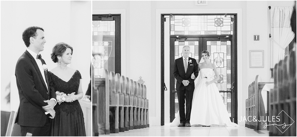 jacnjules photographs beautiful wedding ceremony at immaculate conception in annandale nj