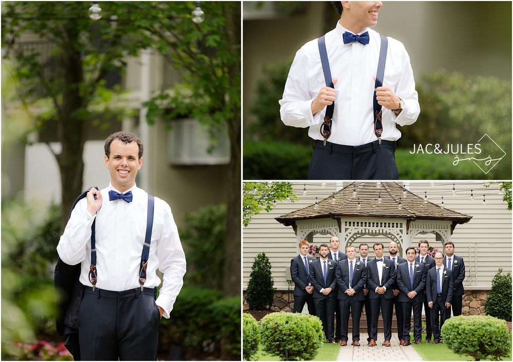 jacnjules photographs groomsmen at olde mill inn in basking ridge nj