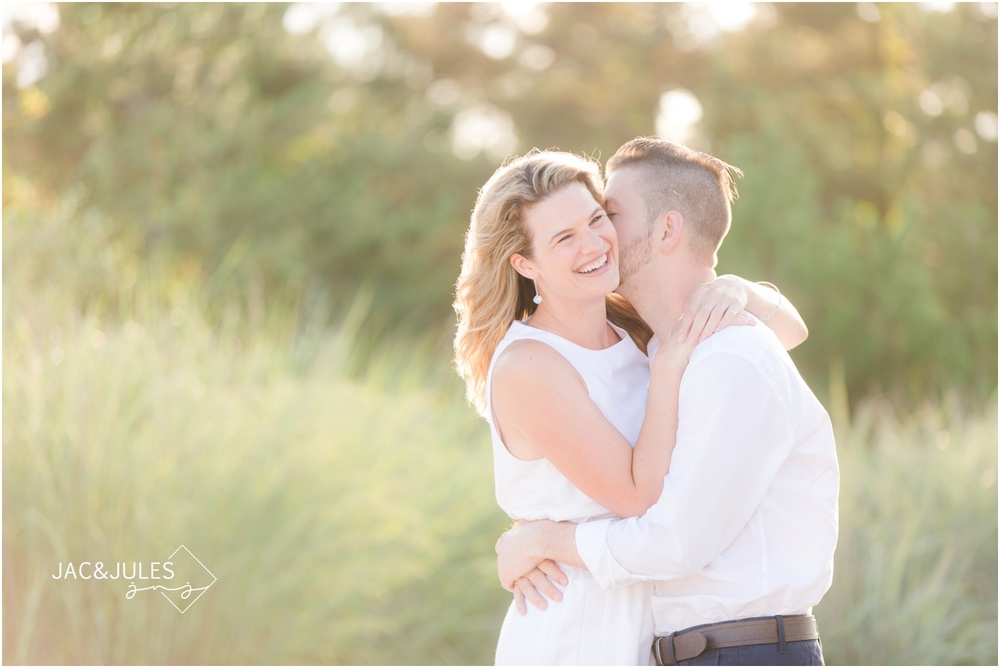 adorable couple beach photos in Long Beach Island, NJ