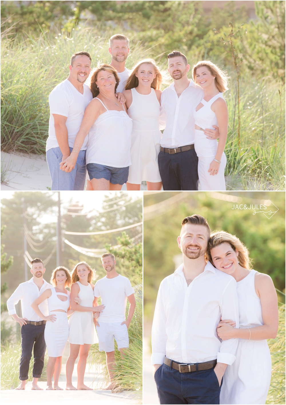 extended family beach photos in Loveladies on LBI