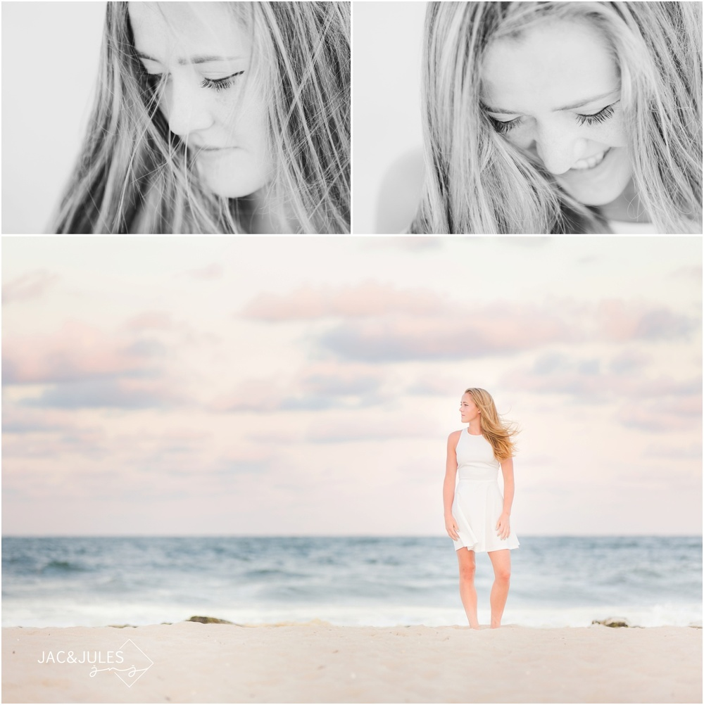 senior beach photos in Long Beach Island, NJ