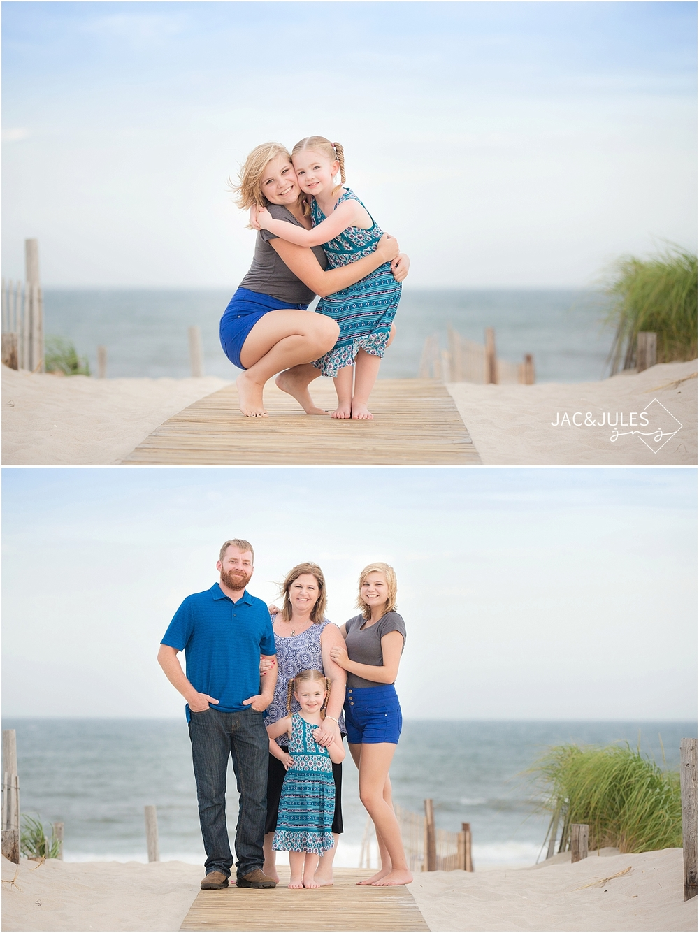 jacnjules takes fun family beach portraits in seaside park, nj