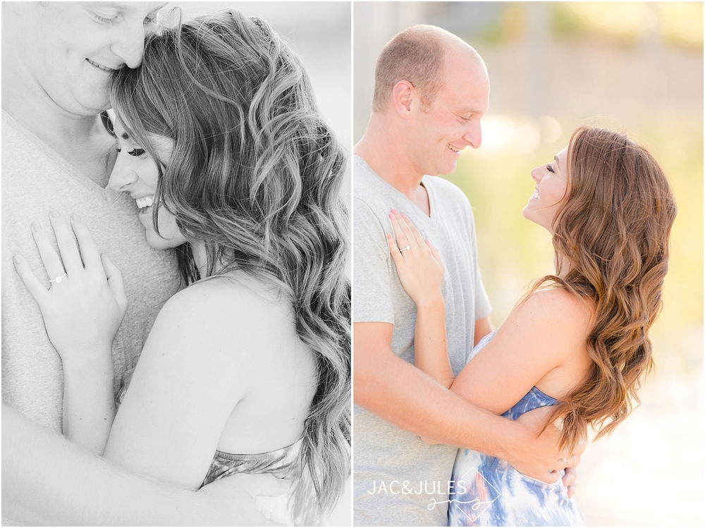 jacnjules photographs fun engagement couple on the beach in point pleasant nj