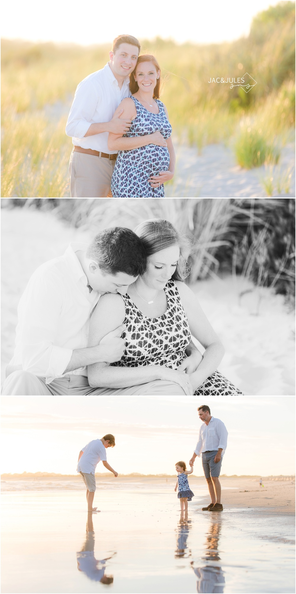 pretty beach maternity photos in cape may, nj