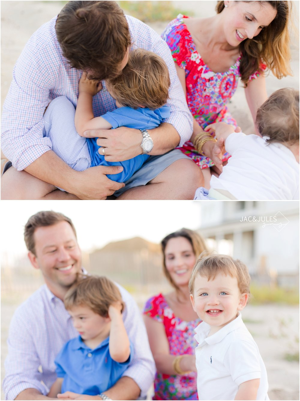 fun creative family photos in Mantoloking, NJ