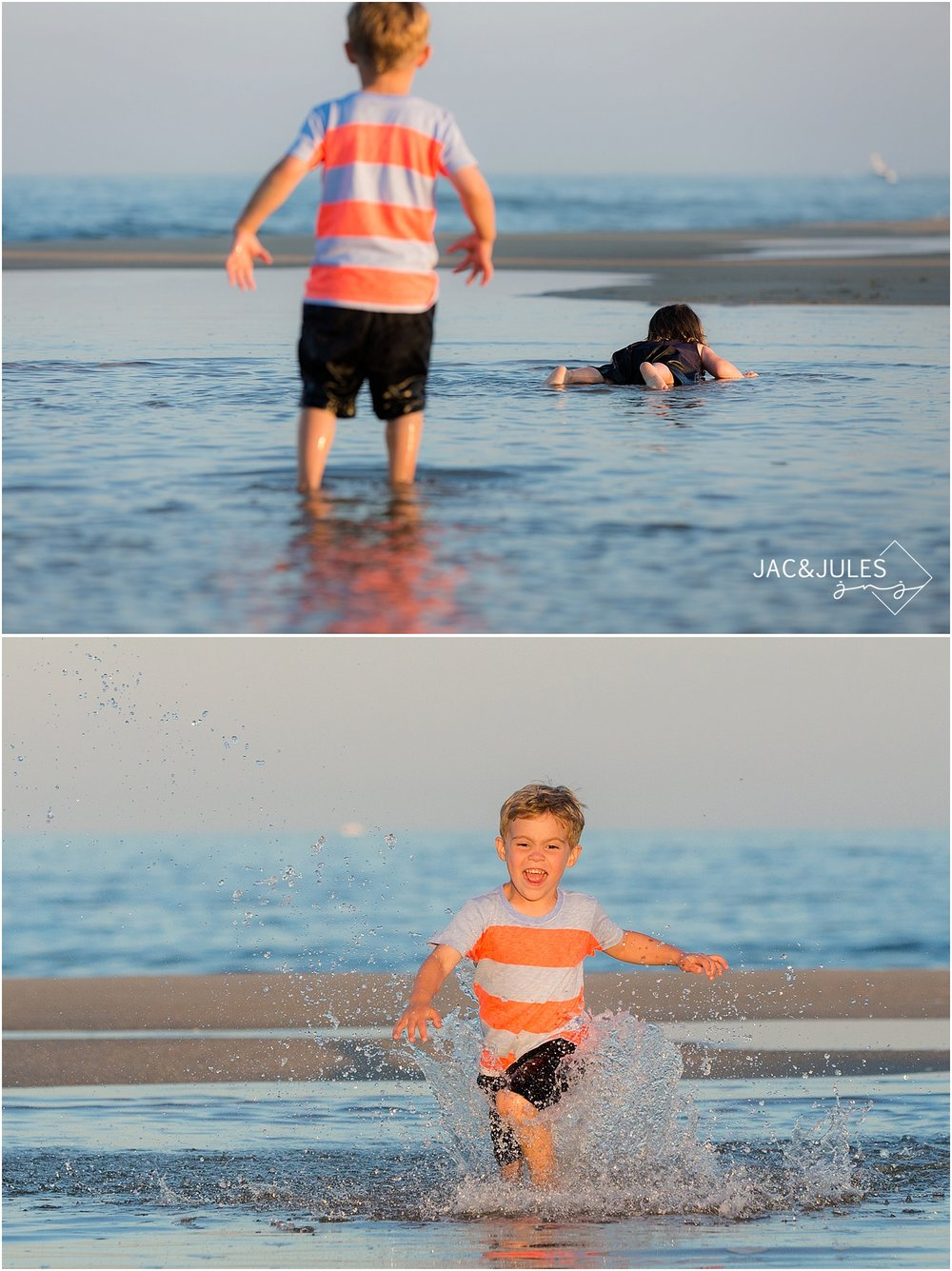 jacnjules takes fun family beach portraits in manasquan, nj