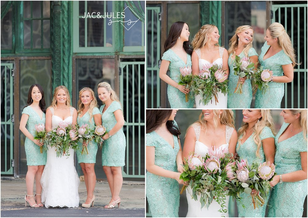 jacnjules photographs beautiful bridesmaids in Asbury Park, NJ