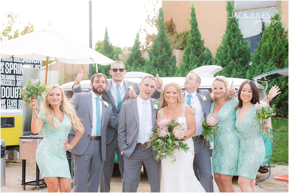 jacnjules photographs bridal party at the Asbury Hotel
