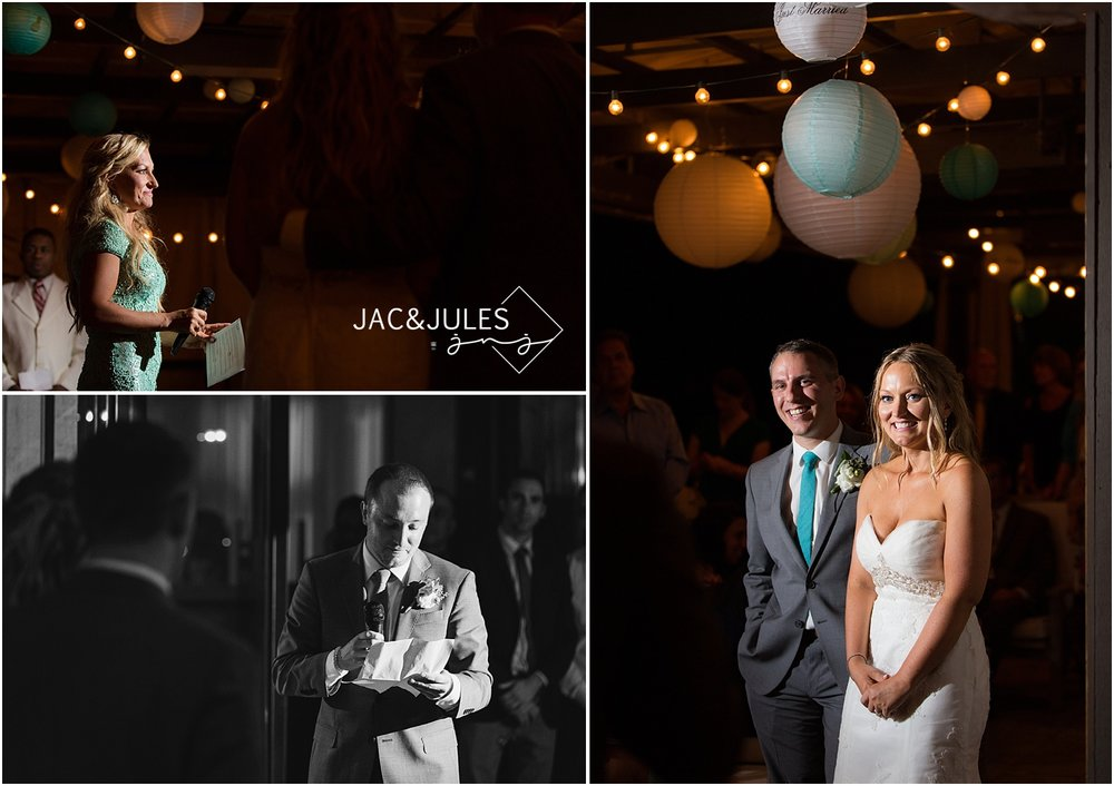 jacnjules photographs speeches at a wedding reception at Le Club Avenue in Long Branch, NJ