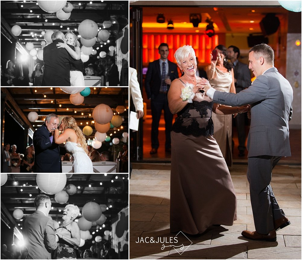 jacnjules photographs parent dances at a wedding reception at Le Club Avenue in Long Branch, NJ