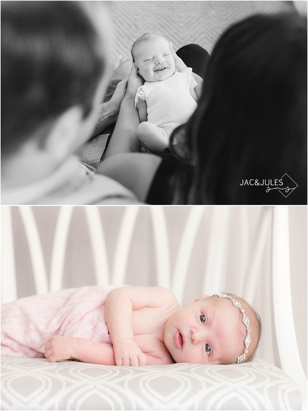 jacnjules photographs newborn baby girl in brick nj