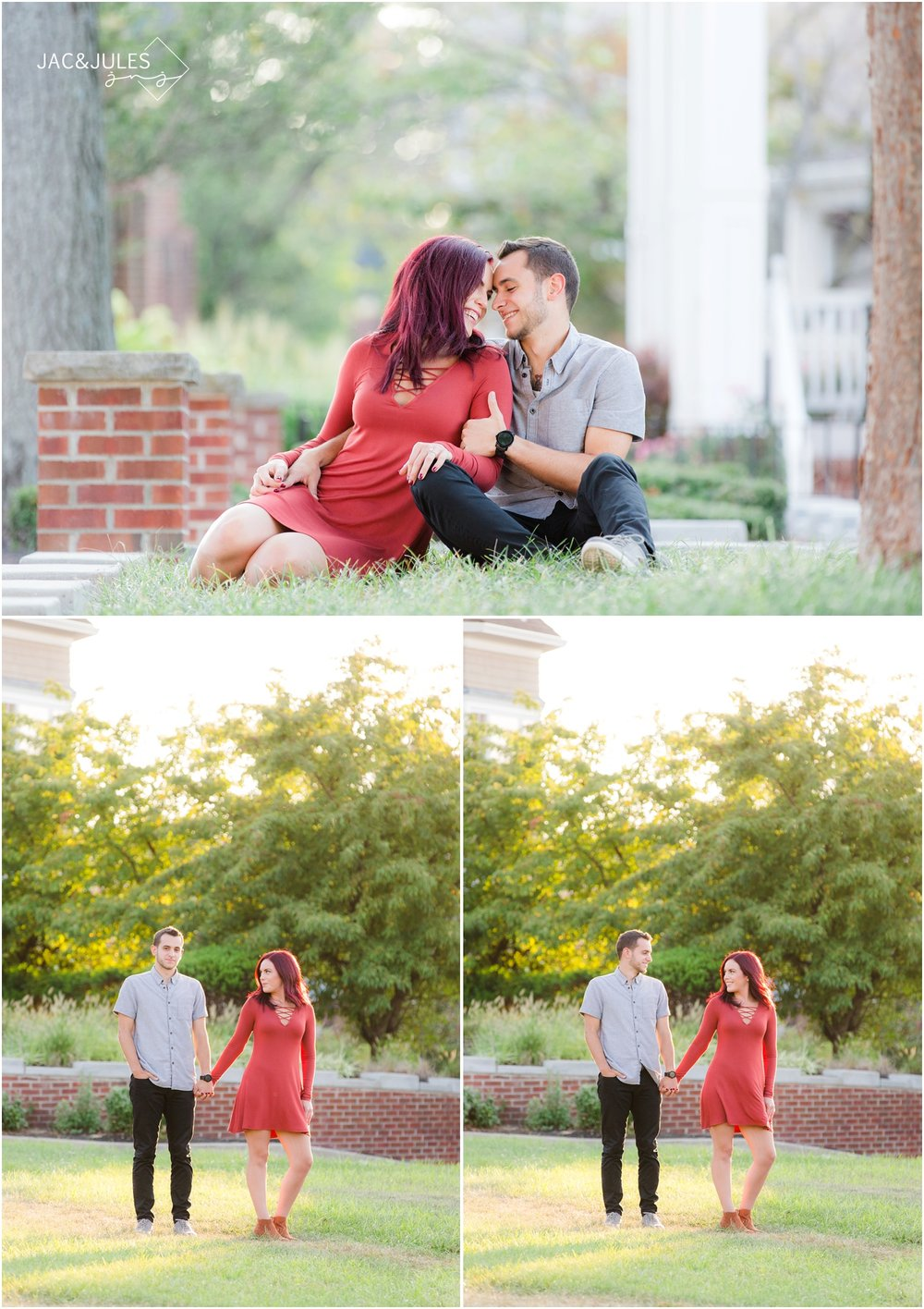 Fun engagement photos in Red Bank, NJ