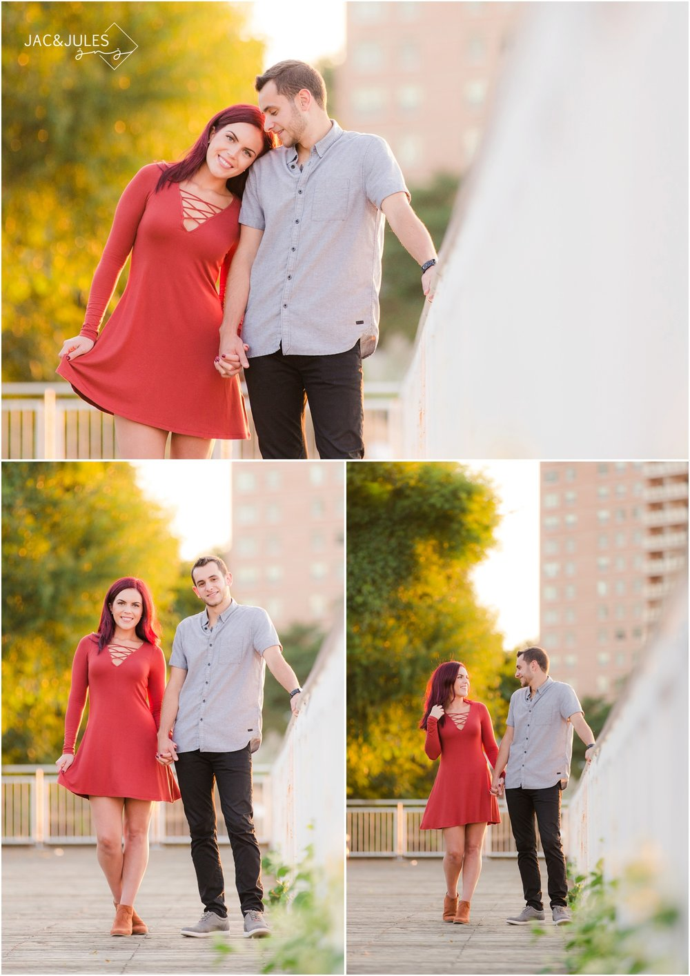 Pretty engagement photos in Red Bank, NJ