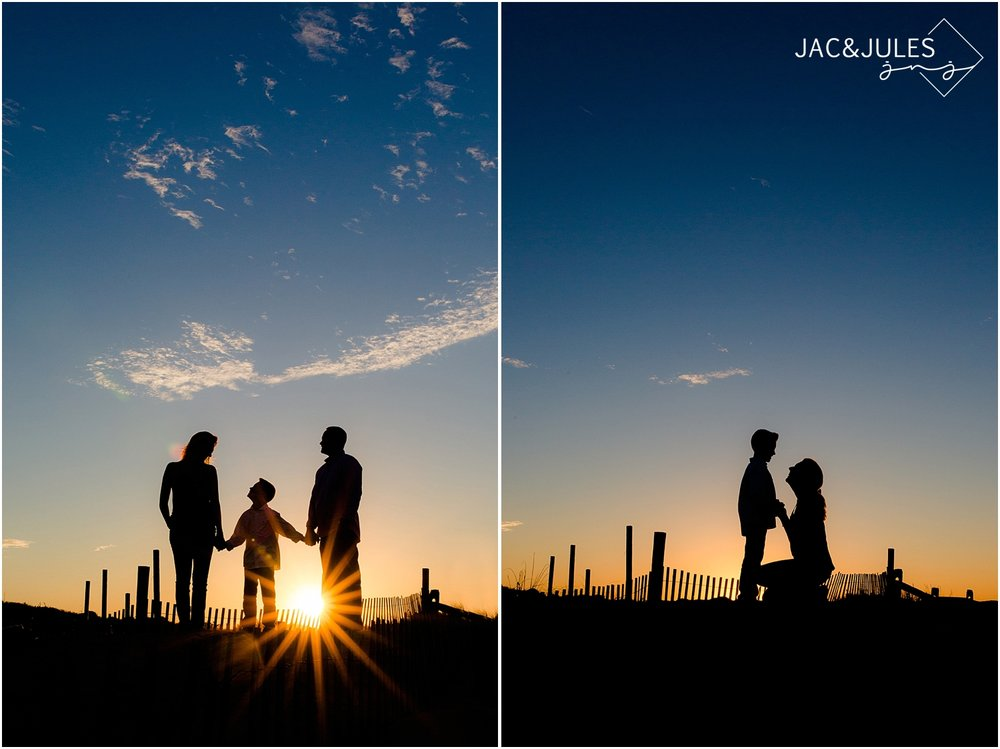 jacnjules takes natural light family beach photos during sunset in seaside nj