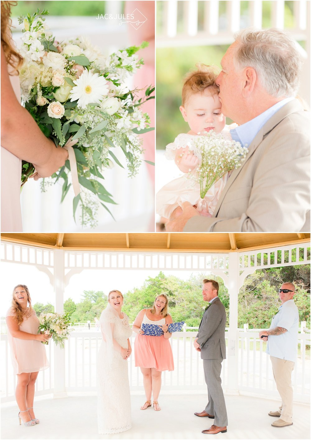 intimate wedding ceremony at barnegat lighthouse in LBI