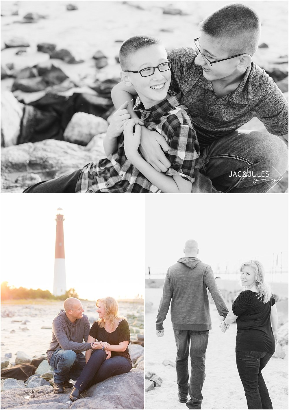 jacnjules photographs family at barnegat lighthouse in LBI