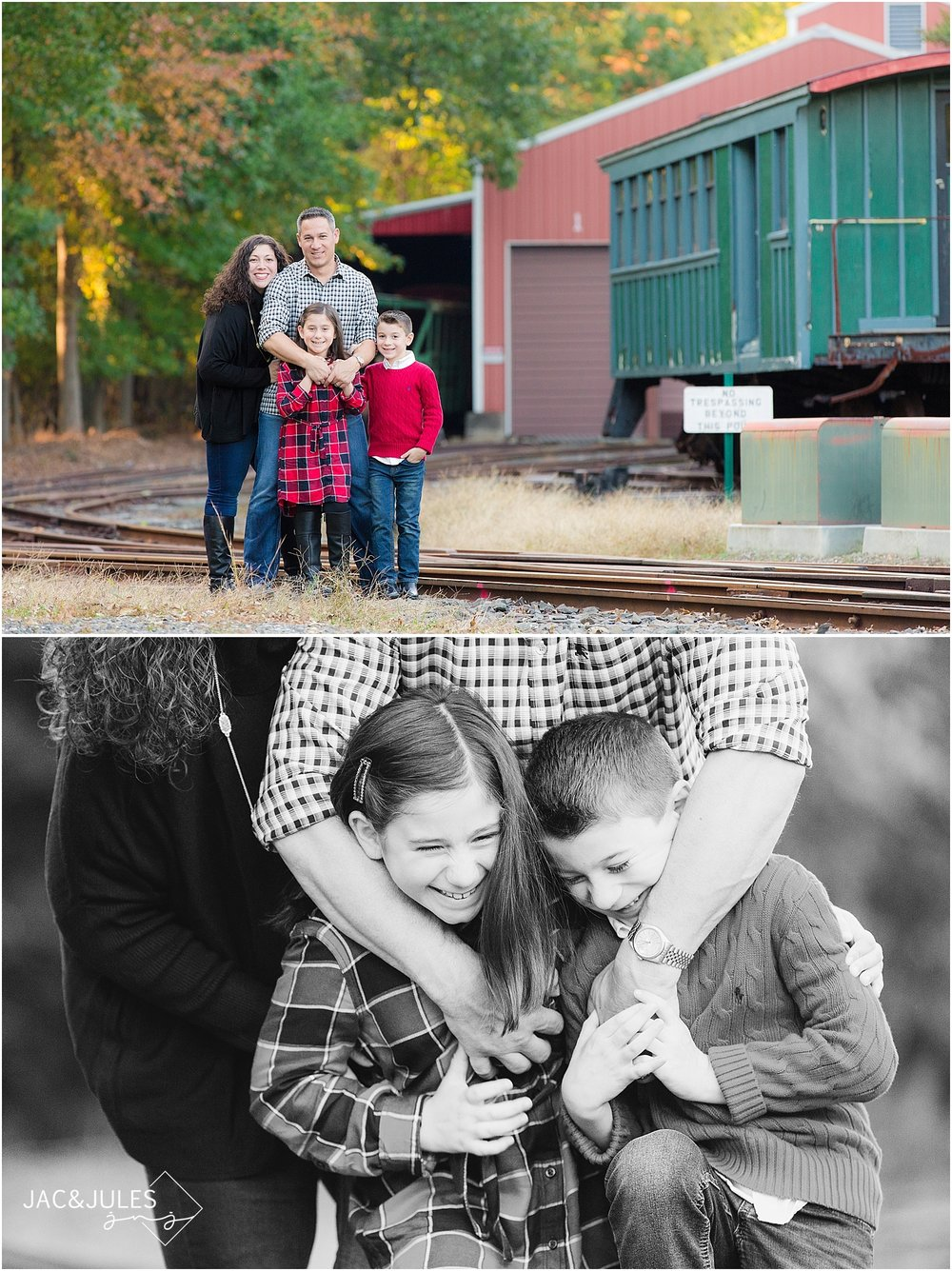 jacnjules photographs family at Allaire State Park for Christmas
