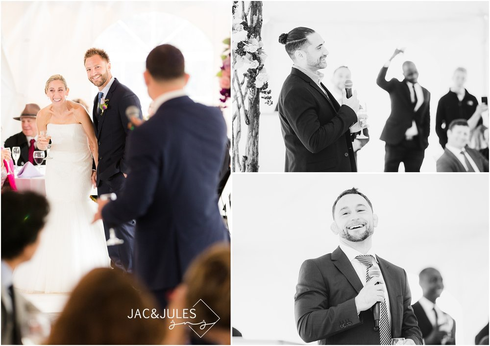 funny wedding toasts at freehold, nj wedding.