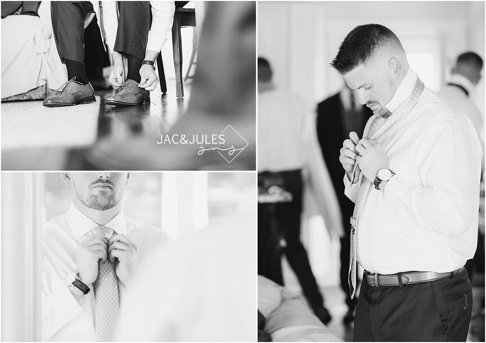 jacnjules photographs groom getting ready for his wedding at his home in belmar nj