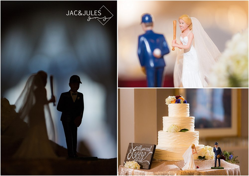 jacnjules photographs baseball wedding details at Waterview Pavilion in Belmar, NJ