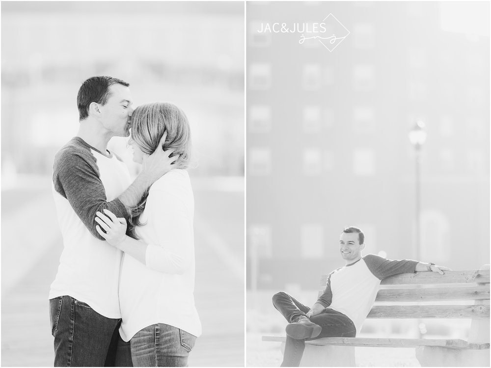 engagement photos at Asbury Park Boardwalk