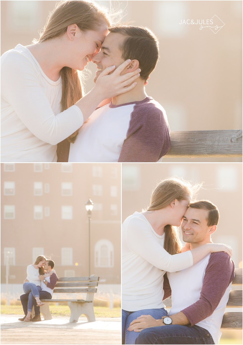 engagement photos at Asbury Park Boardwalk