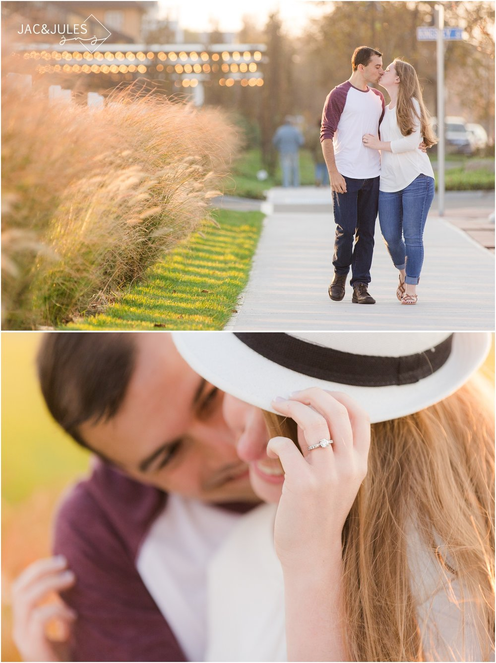 engagement photos near the Asbury Park Hotel