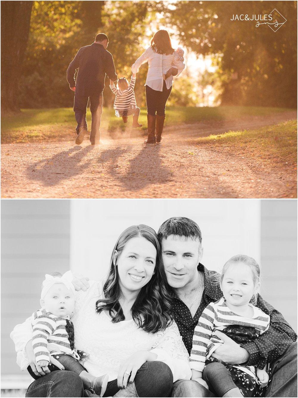 beautiful fall family photos at bayonet farm in holmdel, nj.