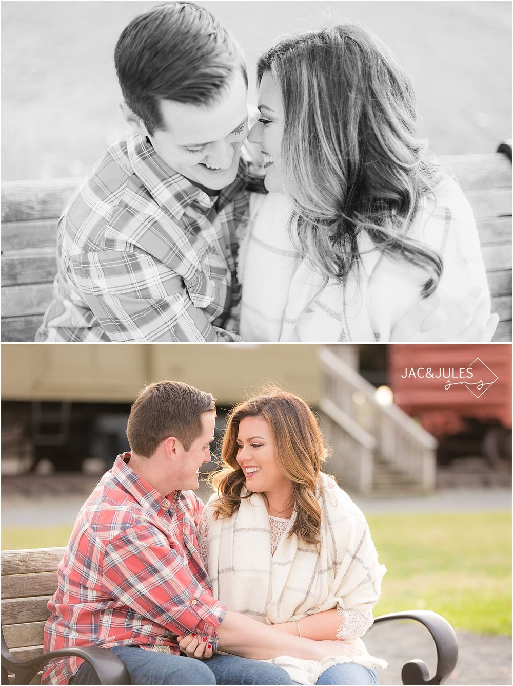 jacnjules photographs fall engagement photos at Liberty State Park in NJ