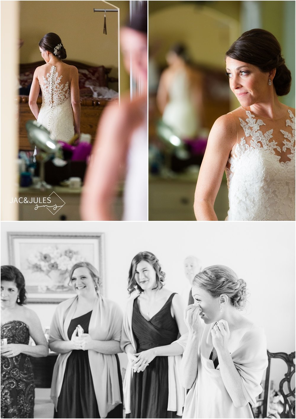 Bridal portraits at Mom's house in Point Pleasant, NJ.