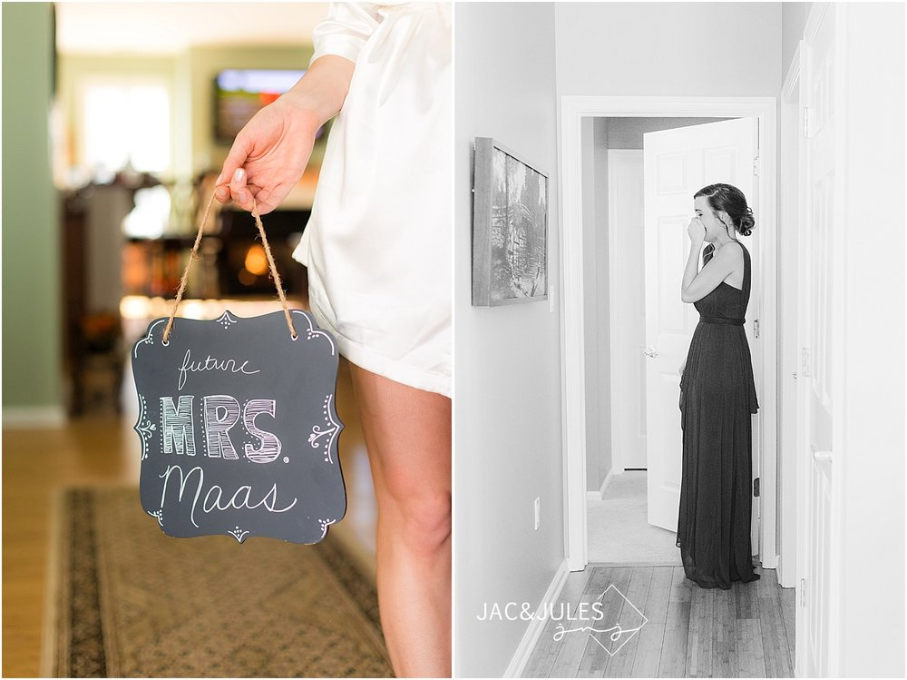 jacnjules photograph bride getting ready for her wedding in Allenwood, NJ