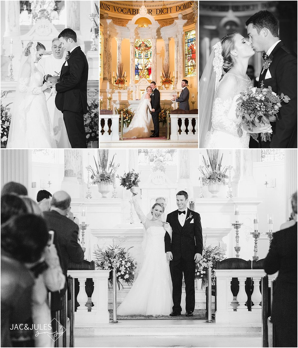 jacnjules photograph wedding ceremony at St. Catherine's Church in Spring Lake, NJ